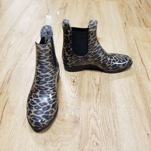 NWOT Sam Edelman Tinsley Leopard Print Rain Boots